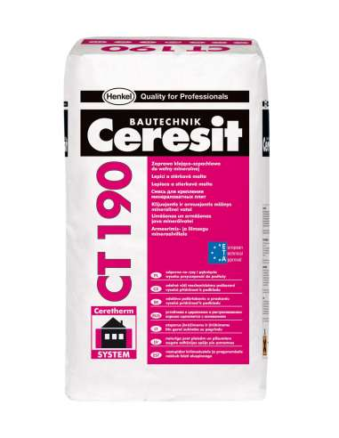 CT 190 Adhesive and reinforcing mortar for mineral wool